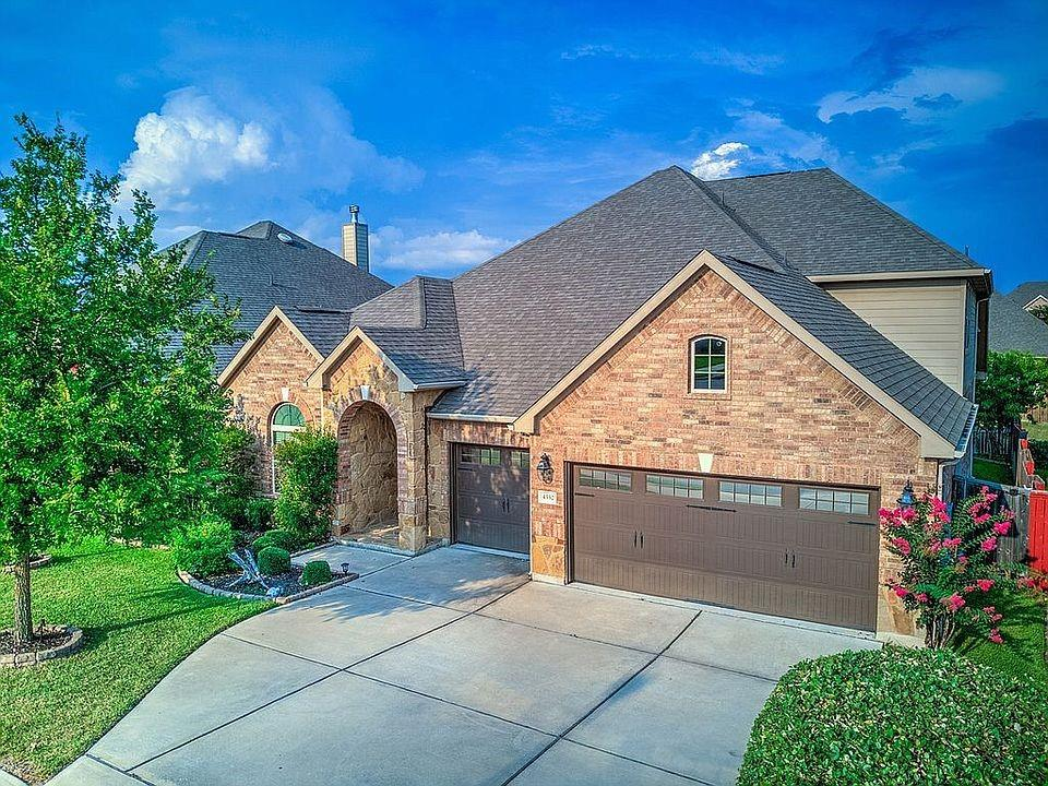 Stunning home in desirable Teravista.  Built by higher end Village Builders in 2014.  This 2 story floor plan is open and spacious - perfect for entertaining.  All four bedrooms and three full baths are located on the first floor. Gourmet kitchen has oversized island, granite counters, double built in ovens, 5 range gas cooktop and pot filler.  Hardwood floors in all main spaces with upgrades throughout, including 8 foot doors, coffered ceilings and crown molding.  Spacious master bedroom has a window seat and french doors that open to a large bathroom with custom mirrors, granite vanities, walk in shower, separate tub and walk in closet.  One of the second bedrooms is a true ensuite with private bathroom.  Office/study has frosted french doors and hardwood floors - is currently being used as fourth bedroom.  The versatile upstairs features a large game room, with built in desk and french doors that open to a media room. Half bath located upstairs.  Deluxe oversized covered rear patio has gas fireplace and built in kitchen.  Backyard faces east, providing all day shade for enjoying the patio year round.  Fully landscaped backyard creates a private oasis.  Three car garage is air-conditioned and heated, making for a perfect workshop, office or home gym.    Home is located on a quiet cul-de-sac in the single in/out neighborhood of Miraval Loop.  Top rated Teravista Elementary is a quick .3 mile walk from the house.  Multiple parks, swimming pools, sport courts and walking trails abound within Teravista, making for an exceptional family home.   Home is pre-inspected - copies to be provided at Open House.  Owners are looking for a 30 day close.  Open House: Friday 4-7pm, Saturday 12-4pm