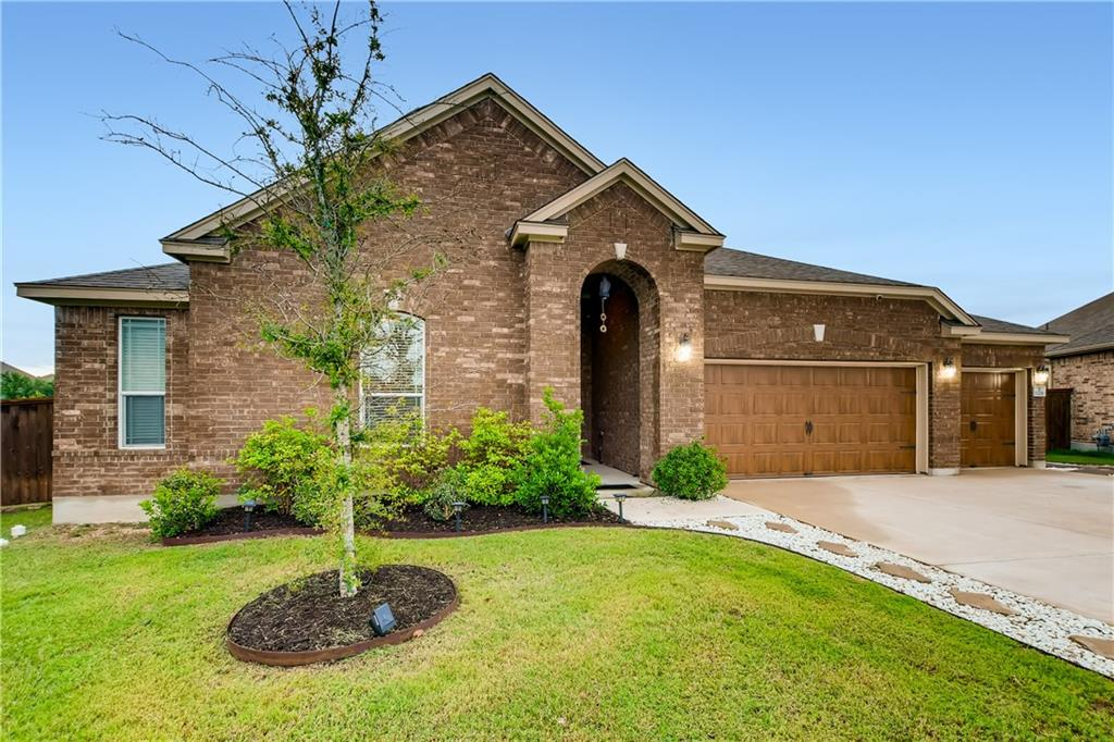 Click the Virtual Tour link to view the 3D walkthrough. Gorgeous curb appeal welcomes you home to this well-maintained single story with 3-car garage! Step into an open floor plan with immaculate neutral interiors and many desirable finishes. Wide open living/informal dining area with recessed lighting and fireplace. Beautiful eat-in kitchen featuring large island, white cabinets, and eye-catching backsplash. Separate formal dining area. Spacious bedrooms, plus bonus room to use for office or home gym. Large backyard with covered patio for entertaining during the hot Texas summers. Great location on a quiet cul-de-sac. This home is an opportunity to not be missed.