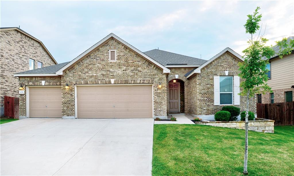 Gorgeous, 2017 built, 3 bedroom/2 bath home featuring 3 car garage, large backyard, oversized covered patio, granite counters, wood floors in most areas (minimal carpet), split bedroom plan, crown molding and the list goes on. See agent for list of upgrades. Great opportunity to get in to a great neighborhood just minutes from shopping, schools, medical and major roadways. Neighborhood amenities include a community pool, playground/park area. So much offered for this price point. Go see it!