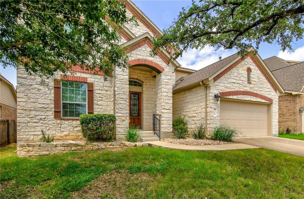This is a beautiful, spacious home with an open floor plan. Located in the Ranch at Brushy Creek, this phenomenal property is ready for its next chapter. This wonderful home has an excellent floor plan, high ceilings, two full downstairs bedrooms with two full downstairs bathrooms. This home features a first-floor primary bedroom with a huge walk-in closet, that has custom California Closet built-in, a conveniently located first-floor utility room, and a spacious kitchen which opens directly to the downstairs living area. The second bedroom downstairs is conveniently located to a full bath with a walk in shower, perfect for accommodating older family members/guests. The upstairs game room is great for activities, media, playing or entertaining, and the backyard is large with a nice cluster of trees. This is an all around fantastic home in a highly coveted location. Across the street from green space/park area.