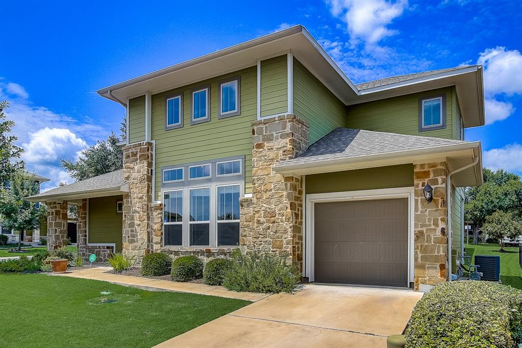 Built in 2015, this Austin two-story corner home offers a patio, granite countertops, and a one-car garage.