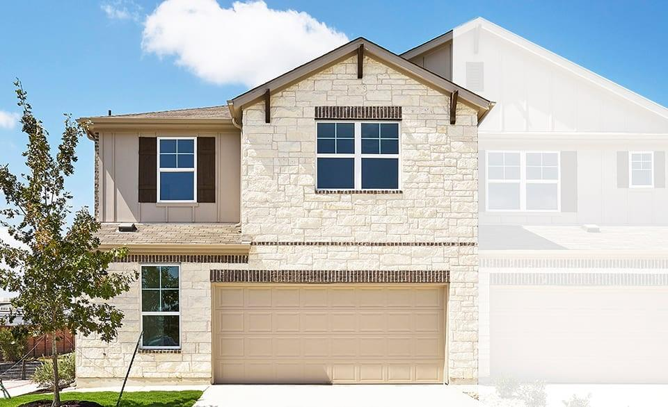 Two Story Yosemite Floor Plan featuring Family & Game Rooms. Added Locker Trim Detail, Granite Kitchen Counters, Added Door at Linen Closet. Available Aug-Sept!