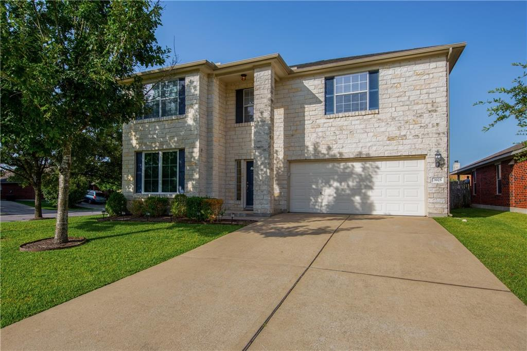 Location, Location, Location!!! Darling limestone home is ideally located on a large corner lot just across the street from the neighborhood swimming pool, sports courts, playground and other amenities. Short walk to Pflugerville Lake. Close to shopping, schools, and entertainment. Short drive to Tesla, Amazon, downtown Austin and more. Zoned to brand new Pflugerville schools. Home has a brand new roof, brand new full gutters. Elfa closet system in owner's bedroom closet. Bright open floor plan with large eat in kitchen, Flex space that can be used as office, dining room or other space, owner's bedroom down, 3 large beds, game room and Jack and Jill-esque bathroom up. Home features a water softener, granite counter tops, brand new 5 burner stove, the refrigerator in the kitchen conveys, brand new triple pane, crank windows at front of home.