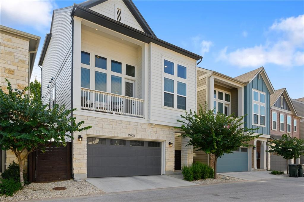 Quality design meets location and lifestyle. Energy efficient Central Living by David Weekley Homes built in 2019. Prime location in north Austin within minutes to the metro light rail and very close proximity to local restaurants, shops, and entertainment. Less than 7 miles to Apple Campus. Enter through the gated main entrance of Presidio Station and come see this rare 4 bedroom/3.5 baths plus loft and two car garage three story free standing condominium- The Sierra Floor Plan. Lives like a single family home. The homeowners added approximately $96,000 in upgrades. Beautiful English Pub Maple Moonshine hardwood flooring welcome you inside. On the first floor you will find two secondary bedrooms with one full bath. Bedroom to the right has direct access to the low maintenance xeriscaped private backyard oasis with no direct neighbors at the back. As you make your way to the second floor you will be welcomed by an abundance of natural light and spacious family room that opens into the kitchen with large kitchen island and dining area plus a second story front balcony. A wonderful space for entertaining! Lots of cabinets and walk-in pantry for your storage needs. The powder room is conveniently located right off the family room with distinctive tile flooring design that also complements the walk-in pantry flooring. On the second level you will also find the primary bedroom with ensuite and walk-in closet. On the third floor a generous size loft awaits along with a fourth bedroom and full bath. Energy savings construction and certified under the Environments for Living Diamond Program. Energy savings features include Low E 3 solar reflective double pane windows throughout, TECHSHIELD radiant barrier roof decking for cooler attic and lower AC bills, tankless water heater, etc. Come see this nearly new home before it's gone!