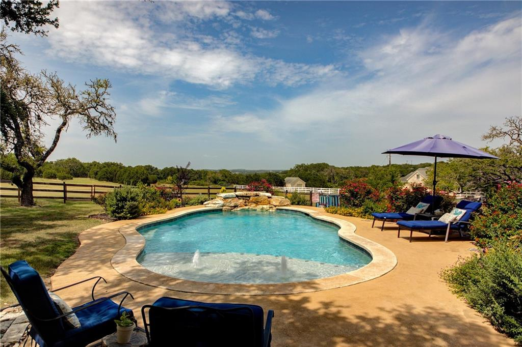 Everything you've dreamt of in your new Dripping Springs home can be found here at 5000 Settler's Trail! Located near everything Dripping Springs has to offer, and within 10 minutes of schools and shopping, yet, when you pass through the gates into Settlers Point, you feel like every care in the world melts away. Consisting of only 33 lots, Settlers Point is a welcome sight as large homesites provide the space and privacy you expect to find in the Texas Hill Country. Hidden from the road by trees lining a winding driveway, your new home is positioned to maximize privacy while also maximizing views from every room in the home as well as from the pool and private casita. Whether you're relaxing in the jetted tub, your favorite reading chair in the bay window, the hot tub, on either of the patios or in the pool, the quiet tranquility on the Hill Country will surround you. Several upgrades have been made to the property in the last 6 years including HVAC replacement, well and water softener replacement and construction of the pool and casita. Restrictions even allow for 2 horses to be kept on the property! If getting out and experiencing the area is on your mind, local favorites Reimer's Ranch, Hamilton Pool, Pedernales Falls and all of the wineries, distilleries and breweries in the area HAVE to be on your short list! While this home would make an incredible multi-generational home with it's 5/3 main home and a separate 800+ sq ft private casita, the owners currently use the extra space as a profitable AirBnB business. Your options here are as vast as the views, welcome home!