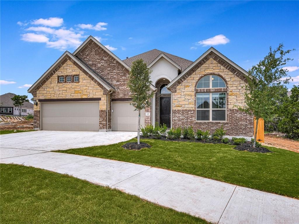 Stunning Gehan one story home located in a cul-de-sac in Leander's highly sought after master planned community of Deerbrooke. This new construction home has never been lived in! Great Value- Beat the Builder Pricing! Gorgeous street appeal with stone, brick and stucco exterior, lush landscaping and on a desirable cul-de-sac lot with sprinkler system. Expansive Tall Ceilings, Light & Bright w/Lots of Windows, Open Floor Plan, Spacious Kitchen with Large Center Island, Pantry, Subway Tile Backsplash, Stainless Steel Appliances, Gas Cooking, Recessed & Pendant Lighting, Office, Mud Room, Flex Room/Game Room, Covered Patio, Fenced Yard Owner's Suite: Vaulted Ceilings, Dual Vanities, Soaking Tub, Separate Shower, Walk-in Closet Neighborhood Amenities:  Upscale Health & Fitness Center – Open-Air Pavilion – Infinity-Edge Pool & Splash Pad – Flex-Use Community Center – Limestone Bluffs Along Miles of Rolling Trails Nearby Amenities: HEB Plus, St. Davids Emergency Center, ACC San Gabriel Campus, Under 20 mi to Apple Campus, Whole Foods, 1890 Ranch, Costco, Cedar Park Regional Medical Center, Restaurants & Shops Tax estimate is using the 2020 tax rate x 2021 tax assessment value. Please note the 2021 tax assessment value is not based on completed improvements.  Buyer to independently verify all information including but not limited to square footage, lot size, restrictions, hoa dues, taxes, schools, etc. Lot size taken from tax record.