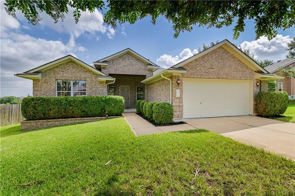 *Multiple Offers...Best & Final Sunday at 5*** Beautiful, well maintained 1 story home in a cul-de-sac and on a greenbelt lot in Morningside at Avery Ranch! Zoned for Elsa England and Pearson Ranch Middle School in exemplary Round Rock ISD! A hop, skip, and a jump away from the Main Amenity Center with 3 pools, tennis courts, playground, sand volleyball, basketball court and clubhouse. The MAC is the social hub of Avery Ranch.  Recent updates include the roof replaced in July, 2021 and the home freshly painted. The manicured front yard welcomes you into the covered front entrance and through the front door with attractive windows.   Once inside, natural lighting guides you to the living room to discover a beautiful space with a cozy, brick fireplace and rich flooring with a ceiling fan. Openness from the living room to the kitchen and breakfast area makes this a home an entertaining haven. Family and friends will love gathering in the space provided by the open floor plan. Boasting stainless steel appliances, tile backsplash, and downlights, the kitchen is a food lover's dream. Gas stove with exterior ventilation and light wood colored cabinetry satisfy any chef's needs.  Retreat to the spacious owner's suite with vaulted ceiling and ceiling fan. Luxuriate in the en suite owner's bathroom with double vanity, glass shower, and garden tub. Moving through this cozy, yet bright home, you will find two more secondary bedrooms and the laundry room with extra shelving for plenty of accessible storage.  Head out back with your family and guests to discover a special outdoor space. The fantastic covered back patio is elevated and has a wood railing. Get your nature fix from the view through the wrought iron fence on the tree side of the back yard. The spacious back yard extends around the side of the home, providing even more outdoor enjoyment. Make the most of your time on the covered back patio with gatherings or quiet personal time.