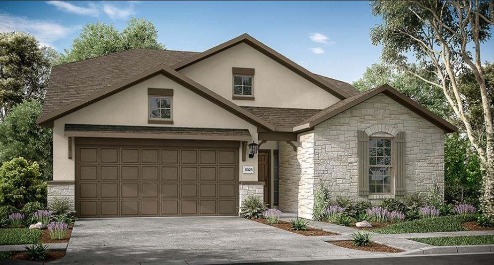 Azure D by Taylor Morrison ~ Ready March 2022!  Welcome to the Azure! Lovely, natural light from elongated windows touch the foyer that leads you inside. With an extended foyer at the entry that offers a peek into the formal dining and kitchen area, the Azure offers intimate-yet-relaxed living. Two charming bedrooms in the front of the home offer privacy to residents and a guest bedroom suite makes hosting guests easy. The Azure boasts of a beautiful open-concept gathering room complete with a breakfast nook and spacious gourmet kitchen that provides homeowners with three different design options. Looking to host a more formal dining experience? Not to worry, the Azure aides your endeavors with a separate formal dining room easily accessible from the foyer as well as the gathering area. The owner's suite is located in the rear of the house, providing owners with privacy. This spacious design flaunts a dual vanity and a convenient linen closet. This owner's bath offers the most leisure spa experience in combination with an extensive walk-in closet.  Second floor offers a bedroom and bathroom and a game room for fun nights in! Flooring and countertop selections to be made by buyer. Structural options added to 4616 Modena Bay Bend include:  Extended owner's suite, Owner's bath large walk-in shower, covered outdoor patio, raised ceiling in foyer and gathering room.  REPRESENTATIVE PHOTOS ADDED.
