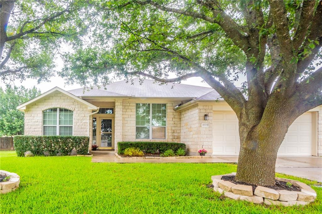 This amazing house is in the sought-after Highland Park North subdivision is only a 1 mile drive to Stone Hill Town Center with tons of shopping, restaurants & theater. Only 1.5 miles to Typhoon Texas Waterpark, 15 minutes to the Domain & 20 minutes to Tesla.  Move-in ready, single-story charmer that's beautiful both inside and out!  The home features a great open floorplan, bright & spacious living room with fireplace, wood flooring, primary bath with double vanity, soaking tub & a separate shower & MORE!!  This home has had almost every inch touched during a complete remodel.  All your buyers have to do is move in!**some of the photos have been virtually staged**