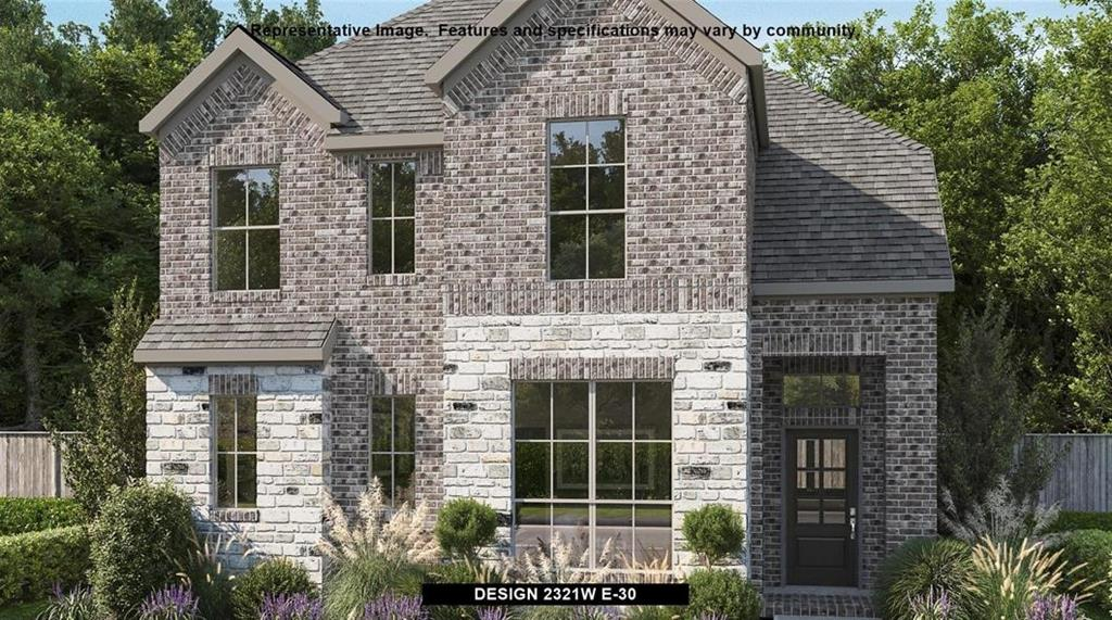 Perry Homes New Construction! Generous two-story entry with 19-foot ceiling extends to the family room. Two-story family room offers an abundance of natural lighting and flows into the kitchen and dining area. Island kitchen with built-in seating space and a corner walk-in pantry. Secluded primary suite located on the first floor. French doors open to the primary bath with dual vanities, a large glass enclosed shower and a walk-in closet. The second level boasts an inviting game room that over looks the two-story family room, secondary bedrooms with walk-in closets, additional storage space and a linen closet. Covered backyard patio. Utility room. Two-car garage.