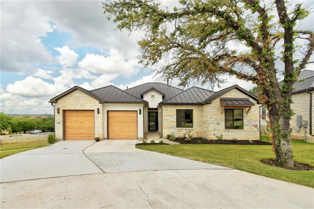 """See https://www.realtor.com/realestateandhomes-detail/4316-Isadora-Dr_Austin_TX_78738_M91752-27519 for Builder vacant pics. Current professional pictures, uploaded Friday evening. Great opportunity in Falconhead. Come to play and stay or lock and leave in this upscale community with great golf nearby.  Comfortable floorplan with two great size living spaces. Bonus room functions well as a library, music room, sitting room, tv room, game room, bathroom access with motion sensor lighting, and closet for extra storage. Tankless water heater inside garage, whole house surge protected added by seller. Large covered patio with wood ceiling. Interior has 10' and 12' ceilings. Standing seam metal roof.  Kitchen boasts of a 36""""commercial style gas range and GE Cafe' appliances.  Near shopping, restaurants, hospitals, grocery stores, lakes. Come see for your self. Buy now, no wait to build!"""