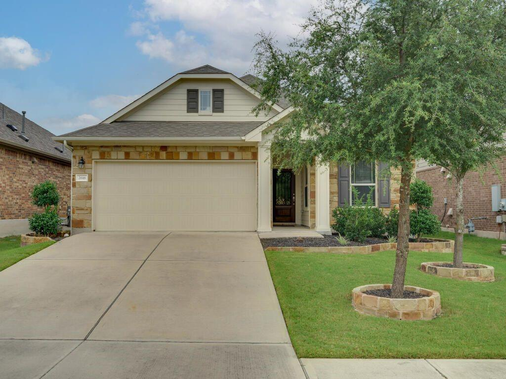 Immaculately kept home in a cul-de-sac within one of the most sought after neighborhoods in Pflugerville. Falcon Pointe is conveniently located close to the 45 & 130 toll roads and 28 minutes from downtown Austin. This home has been well loved, feels brand new with an open concept kitchen. This home also has three bedrooms, a large backyard, and an office. The community has pools, splash pads, trails, fitness center, disc golf course, etc.