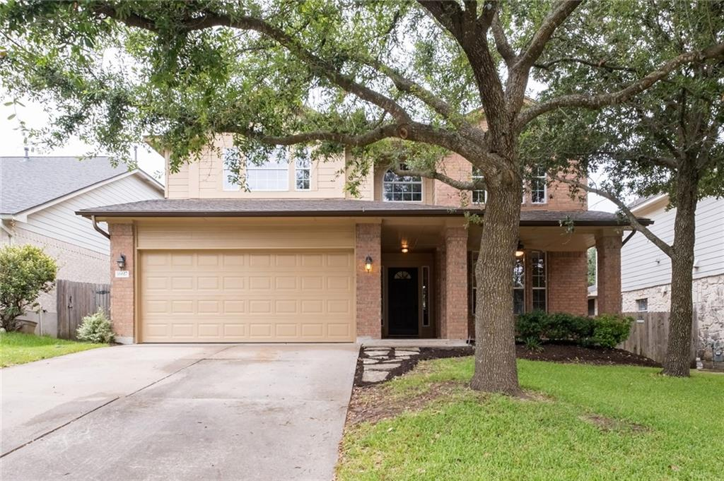 Multiple offers, submit best offer by 9am September 1. Avery Ranch and RRISD!  The welcoming front porch is set with travertine tile, enjoy your morning coffee or quiet evenings. Just steps away to the neighborhood pool and trails leading to the Brushy Creek Trail System. Highly functional, open layout includes spacious living area leading into the dining and kitchen with lots of Granite countertop space, stainless steel appliances, travertine backsplash, undermount lighting and center island. Large windows showcase the mature backyard trees, Priceless! Just add a chiminea for year round backyard time. Oversized pantry combined with Laundry/utility is just off the kitchen. Freshly painted interior, new vinyl plank flooring and new carpet upstairs. New roof coming soon! The huge second living area or game room is great for the kids or can add a 4th bedroom. MOVE IN READY! Homes in this section of Avery Ranch are rarely available and are in high demand for the exemplary schools, shopping, restaurants, hike/bike trails, tennis facility, easy access to major roads and close proximity to the Parmer Lane technology corridor.