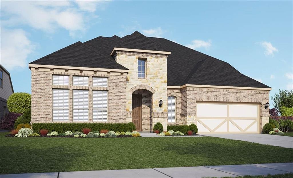 """Popular Princeton floor plan with features that include: Chef's Kitchen with Upgraded 36"""" Cooktop   Luxury Primary Bath Suite   Full Stone Facade   Additional Windows at Nook   Mud Set Shower in lieu of Tub/ Shower Combo in Secondary Bath   Full Gutters. Available January."""
