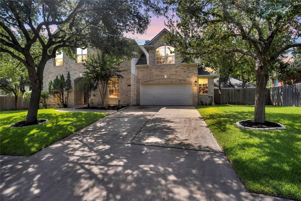 This is the home to raise your children! Nestled in the amazing community of Stone Canyon, this 3004sq foot - no carpet - cul-de-sac home sits on almost 1/4 acre lot! Low tax rate of 2.18 despite being in a top notch- Round Rock ISD schools make this home even more appealing. All 4 bedrooms are upstairs with an additional game/living room. Large and spacious is the open living and kitchen area. The home come also includes a study with French doors and a separate formal dining. The main floor living area has gorgeous bay windows that shows the beautiful backyard. The living area also boasts a separate space for TV next the fireplace. Gourmet kitchen was added by the sellers and updated master shower. The 2-car garage also has an extra half bay for storage and a door leading to the backyard. The backyard also has a wonderful deck and pergola to enjoy Texas outdoor living. Beautiful mature trees also frame the front and back of the home. Water softener conveys with the home making it extra convenient. The roof was replaced 2 months ago. This home was very well maintained by the sellers and are hoping to pass along the good blessings that this home brought to their family on to the next buyers. This won't last long!