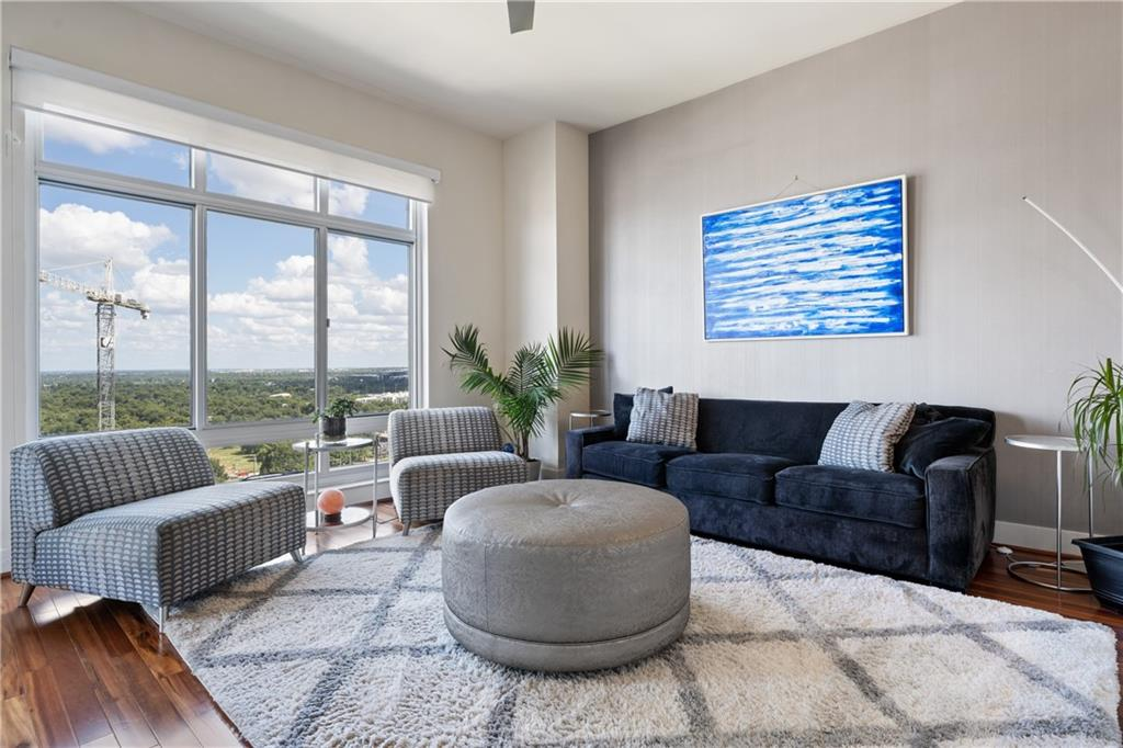 Panoramic views from living room