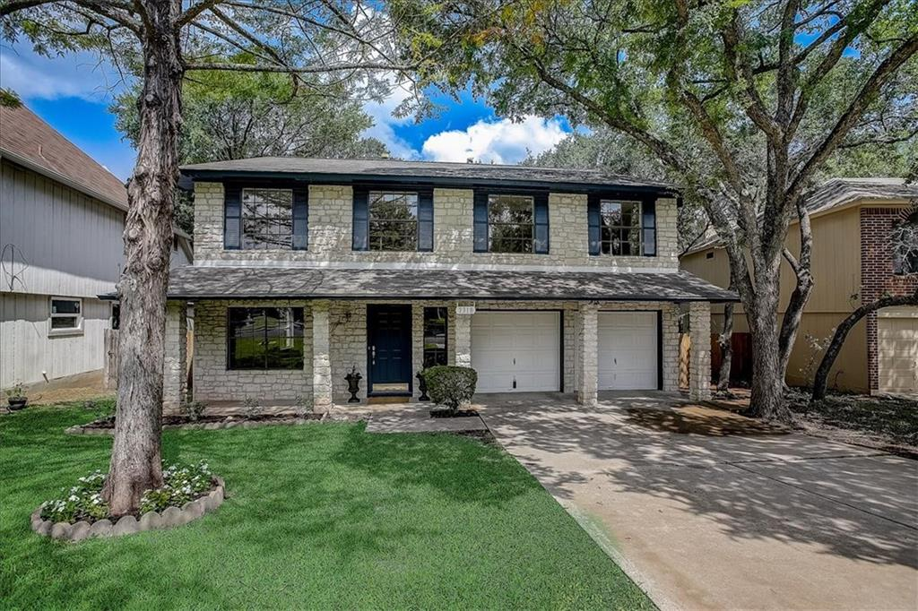 Beautifully updated home has 4 bedrooms, 2.5 baths, two dining areas, two living rooms, gas fireplace, a bonus room office or second living area for kids.  Round Rock ISD.  Less than a mile from the new Apple Campus at Dallas Dr/W Parmer Ln.  Within walking distance to the community pool and walking trails, tennis, basketball courts, volleyball, and playscapes.  Recent garbage disposal, hot water system and VS Platinum Series 20 seer HVAC, new paint interior and exterior, new carpet, new lighting and ceiling fans throughout, tons of natural light.  New Moen Eva collection bathroom fixtures.  Tile in entry through kitchen and den.  Hardwood in formal dining and living room. All cabinets and kitchen countertops refinished.  New Samsung kitchen appliances.  Abundant storage space with 6 closets and an attic with drop down/fold-up stairs, standing room, walkways and shelving that extend the length of the house.  Two can easily work from home with the option of using one room as a second office area.  The large master also allows for a seating area.  Located near the Domain and Arboretum.  Easy commute to Downtown Austin or the airport with its' ideal location to Parmer, 183, Anderson Mill, and the 45 tollway.  Move-in ready!