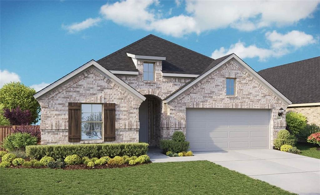 Due to supply chain issues, some options and selections may be substituted or revised. Must verify all options and details with builder representative. Oleander plan with features that include: Buffet | Mud Pan in Owner Shower | Walk in Pantry | Large Kitchen Island | Flex Room. Available December.