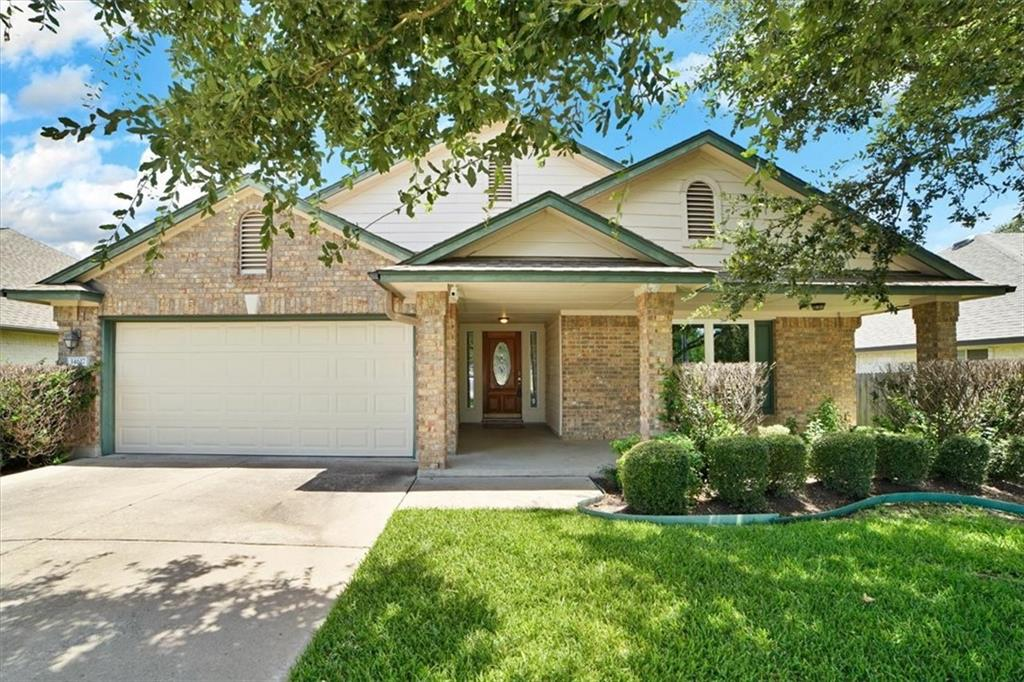 Stake your claim in Texas!  Unbelievable hardwood floors!  Covered front & back patios.  Large backyard.  This home is so fabulous...kitchen with granite countertops, stainless appliances and totally open.  Cook & bake & visit all at the same time.  Separate tub & shower in the owners' suite with large closet.  Two dining areas and loads of storage.  Easy walk to the park & pool.  Don't miss out on this wonderful opportunity to live in Avery Ranch and own this lovely home.