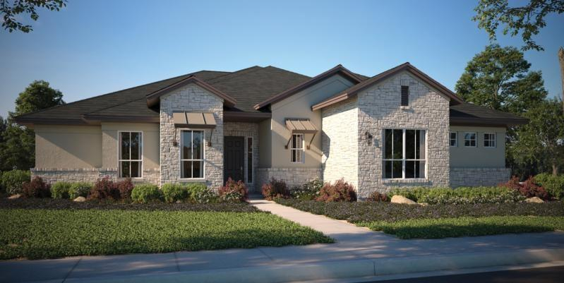 Located in Bonnet community on 1-acre homesite, come see a brand new 1-story floor plan with inviting entryway, cathedral ceiling in the family room, and walk-in closets for every bedroom.