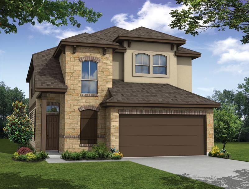 This four-bedroom is our most spacious made more so by its 20' living room ceiling, stacked entry windows, and an open second floor filled with natural light. The secondary bedrooms' walk-in closets, the first-floor master suite, the kitchen's walk-in pantry, designated utility room, plentiful under-stairs storage, and the upstairs game room are only a few of Lamar's remarkable features for remarkable living.  Award winning Leander ISD school district that reports to Tom Glenn High School. Brand new Larkspur Elementary School located in the neighborhood. Walking distance from the amenity center which includes a pool, splash pad, fitness center, covered playscape, and access to hike & bike trails. Milestone Community Builders.