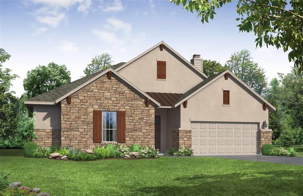 This beautiful 1-story Bowman plan has 4/BD, 3.5/BA & 2 car garage.  Open entry way, spacious family room, with vaulted ceiling & beams. The large island in the kitchen with the large dining area makes this home great for entertaining family & friends.  At the end of a long day, retreat to the spacious primary suite with high ceilings, beautiful bathroom with separate vanities, garden tub, walk-in shower w/seat and a large walk-in closet.  This home also has lots of storage and a covered patio. Ready in June 2022