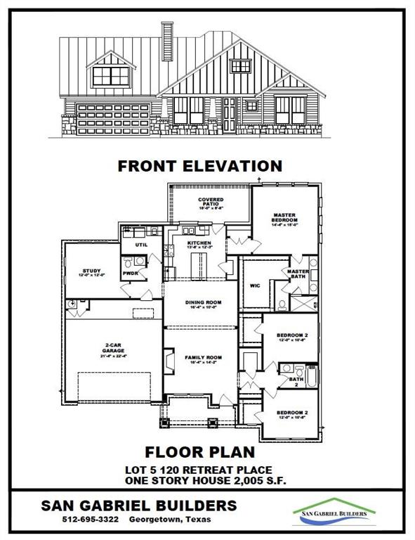 TO BE BUILT...ESTIMATED COMPLETION SUMMER 2022...Custom Build By San Gabriel Builders Features 2005 Sq Ft One Story, 3 Bedrooms, 2 1/2 Baths, 1 Living, 1 Dining, Plus Office/Study. Kitchen With Quartz Countertops, Gas Cooktop, Built In Oven, Microwave, Dishwasher & Center Island With Breakfast Bar. Attention To Detail In Every San Gabriel Builder Home!!