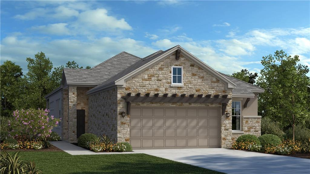 """Our Fortana floorplan is a single story Luxury Garden Home offering 2,087 sq. ft. including 3 bedrooms, 2 baths, study, and an oversized covered patio perfect for entertaining guests! This open concept home features 12' ceilings, Sheetrock beams in the main living area and dining room, and upgraded hardwood flooring throughout the main living areas.  Oversized Master Suite a large walk-in shower, separate vanities with knee space, and HUGE master closet with built-in dresser. Laundry room includes cabinets.  The kitchen includes upgraded countertops, 42"""" painted cabinets, stainless steel built-in appliances with 36"""" 5 burner gas cooktop, and many designer touches throughout.  HOA does yard maintenance."""