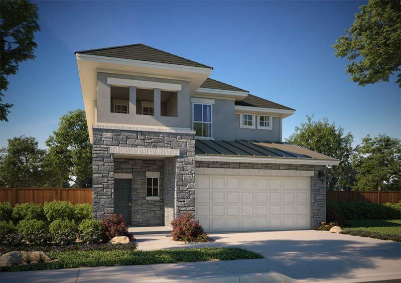 """Large open concept living, dining and kitchen area welcome you to this lovely home. There is a powder and utility room on the first floor as well. The beautiful windows offer plenty of natural light that permeates the entire space.  The master suite and 2 additional guest bedrooms are located on the second floor. Perfect for young families or for those whom like to entertain. There is a large extended covered patio for you to take in the lovely Texas outdoors. The home is pre-plumb for H20 softener, BBQ gas drop on the patio, Vinyl plank Wood Floors throughout first floor, modern iron railing along stairs, 42"""" designer kitchen cabinets. The area offers an Award winning school district. Meadows at Quick Ranch is a new boutique community of coveted addresses in a neighborly atmosphere. As the only new construction residential development in the area, 139 homesites and ample green space, with views of Meadow lake and greenbelt, this community gives off an air of serenity and seclusion within Round Rock, one of the nation's fastest-growing cities. Builder paying up to $5,000 in closing costs. Sales office located at 3201 College Park Drive, Unit 33, Round Rock, TX 78664."""