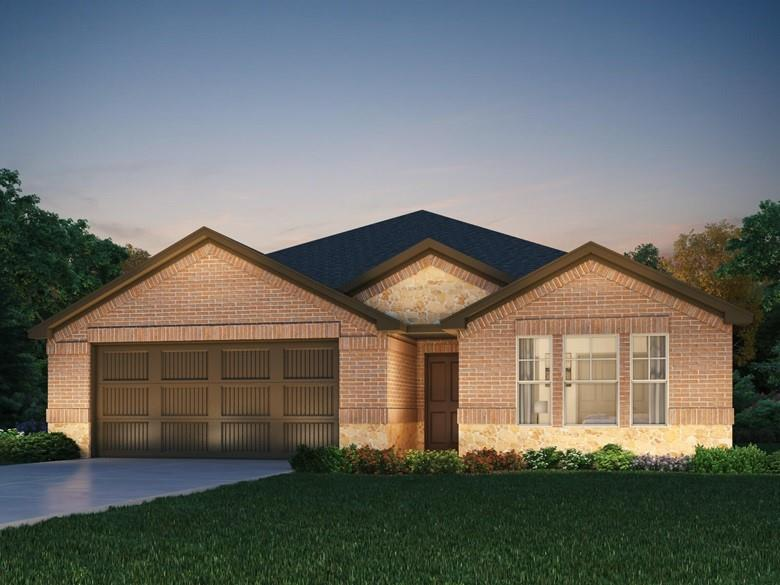 Brand NEW energy-efficient home ready September 2021! NE facing home on gorgeous oversized lot that currently backs to farm land.  Lot is over 11,000 square feet!  Huge backyard!  Gorgeous one story floor plan with 4 sides brick offers 4 bedrooms and 3 full baths (en suite at bed #4).  Beautiful white interior cabinets throughout home with extensive Engineered Vinyl Plank flooring throughout; only bedrooms and closets have carpet.  Covered rear patio allows you to relax and enjoy the oversized backyard!  Full grass and sprinkler included as well as whole house blinds.  Deerbrooke community is within a 4 mile radius of easy access to 183A, shopping and so much more!  Fantastic Leander ISD schools! Known for their energy efficient features, our homes help you live a healthier and quieter lifestyle while saving thousands of dollars on utility bills.