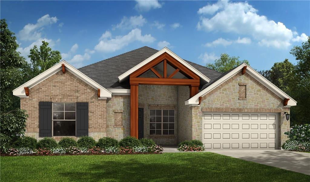 """Single-story Brownfield floorplan is 2,606 sq. ft. and includes 4 bedrooms, 2.5 baths, large office, formal dining, and a 3-car garage. The oversized extended covered patio is a perfect oasis for entertaining family and friends! This beautiful home features a very open family room with Luxury Vinyl Plank floors and a chef's kitchen with upgraded countertops, stainless steel built-in appliances, and 42"""" painted cabinets.  The Master Suite includes large closet, an oversized shower, and large stand alone tub."""