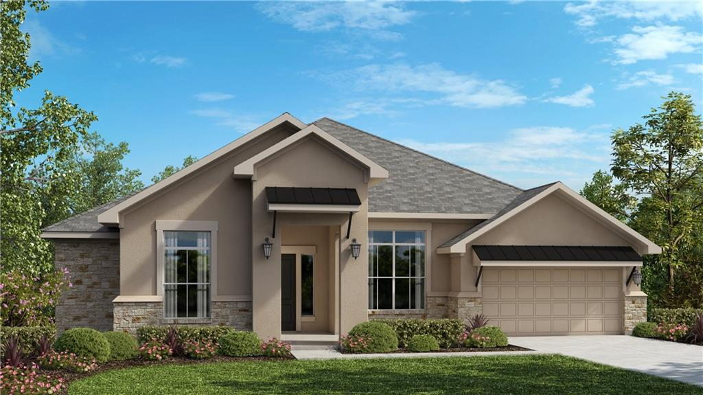 """One-story Mendocino floorplan is 3,065 sq. ft. and includes 4 bedrooms, 3 baths, large office, and a 2.5-car garage. The oversized extended covered patio that is a perfect oasis for entertaining family and friends! This beautiful home features a very open family room with 12' ceilings, Hardwood floors and a chef's kitchen with upgraded countertops, stainless steel built-in appliances, and 42"""" painted cabinets.  The Luxury Master Suite includes large closet, a oversized shower with 2 shower heads, and large garden tub."""