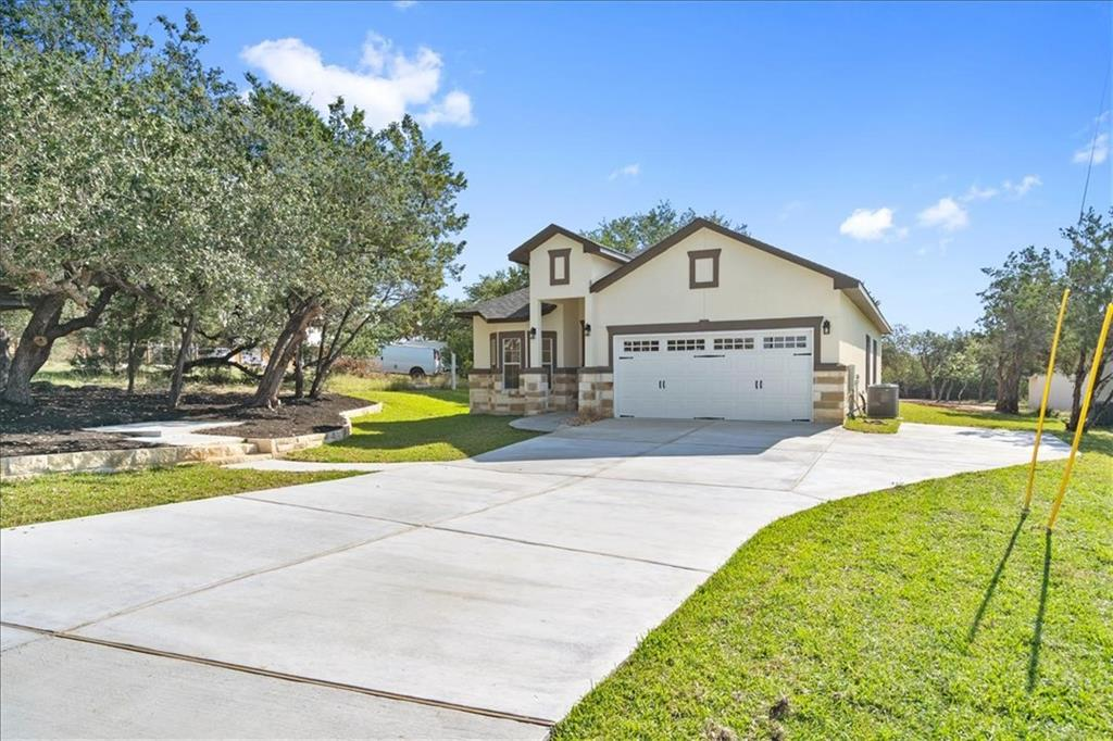 ESTIMATED COMPLETION END OF OCTOBER. New home on large lot features 3 bed, 2 bath, 1 Office/Flex room, 2 car garage finished (epoxy floor), drive way extended with a 3rd parking spot. Large covered back porch with fan, mature trees in back yard. High ceilings. Tile floors in the main areas and laminate in rooms. Custom built kitchen cabinets. Alarm system pre-wired. Spray foam insulation. Water softener loop. Four sides exterior 95% Stucco & 5% stone. Sodded front and side yard (St. Agustin) Gutters in front. Optional Lake Park Association HOA has two lakes, park & trail systems, kids park, etc. Is currently $125/year per household or $625/lifetime to join. No Survey. Seller pays for Survey. Estimated completion end of October 2021.