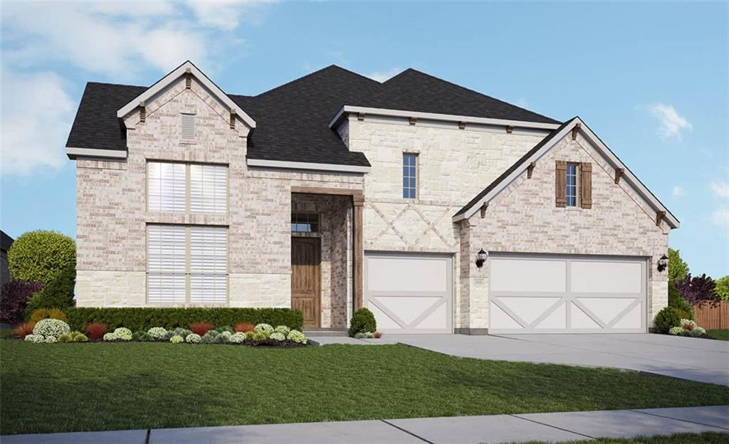 """Single Story Villanova Floorplan Featuring: 4th Bedroom with full bath in lieu of flex space   Gourmet kitchen with 36"""" cooktop   Pocket doors at Jack & Jill Bathroom   Luxury master bath with frameless glass shower and soaking tub   Full gutters. Available January."""