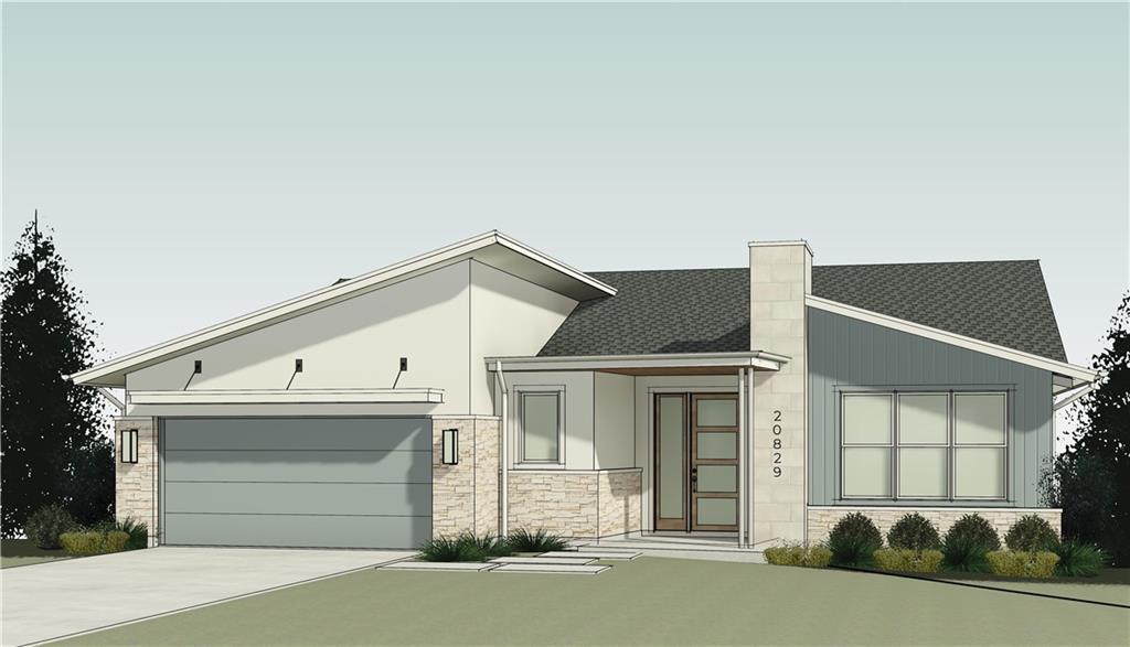 **Construction to commence in September! New elevation and  updated plan as of 8/1! Just outside busy Austin, welcome to the quiet community of Lago Vista Estates which features a mix of custom homes both on and near Lake Travis and the Colorado River. This custom home with walkout basement will be situated on a sloping lot boasting striking hill country views. Construction quality won't be beat as a Guardian Certified Home https://guardiancertifiedhome.com . Energy efficiency is also tops with a HERS index of 58, easily passing the 45L tax credit standard. The contemporary home is a truly unique layout that will fit just about any lifestyle. The decorative foyer leads to the versatile open floorplan. The amazing kitchen connects with the dining and great rooms allowing for entertaining around the linear electric fireplace. Enjoy your coffee in the morning and the sunset in the evening on your covered back patio and adjacent sun deck. The main level also hosts the primary bedroom/bathroom along a study/secondary bedroom and full bath while the walkout basement below is full function with a large game room and 3rd and 4th bedroom with full bath…and another covered patio. Exquisite finishes include quartz countertops, shadow gap wall treatment, brushed nickel fixtures, under cabinet lighting, vinyl plank floors, frameless shower, Moen fixtures, and the list goes on. Unfinished storage can be finished out to make the perfect media room, workout room or many other possibilities. The lot is surrounded by mature trees, and a short  mile walk to the lake! Enjoy all this lakeside community offers with outdoor recreation, lake access, boat ramps, parks, golf, and good eats. Using a streamlined construction  process you can see every step of the process working closely with the builder to make this house your home!