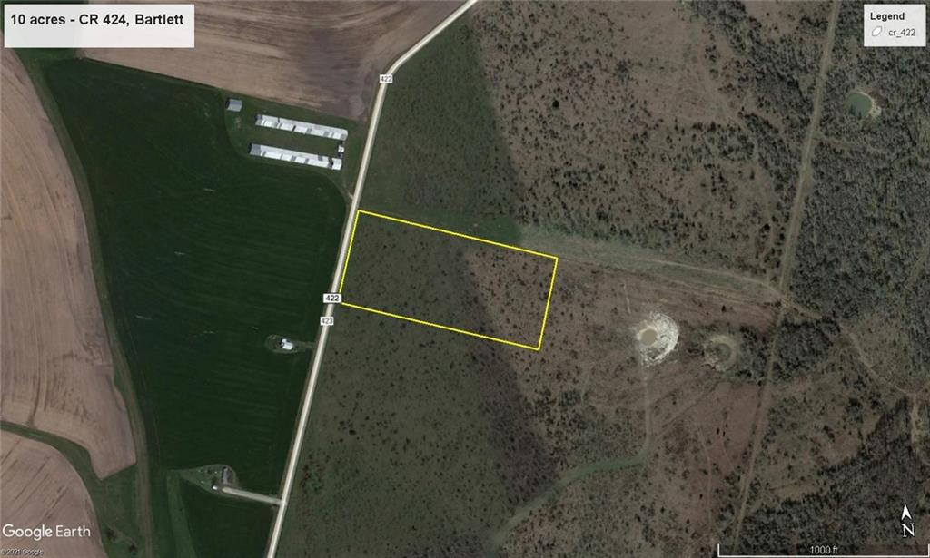 10+/- acre tract, great build site, lots of wildlife, perfect for small ag. projects, horses, agriculture exemption in place, Close to Granger Lake, Taylor, Toll 130.