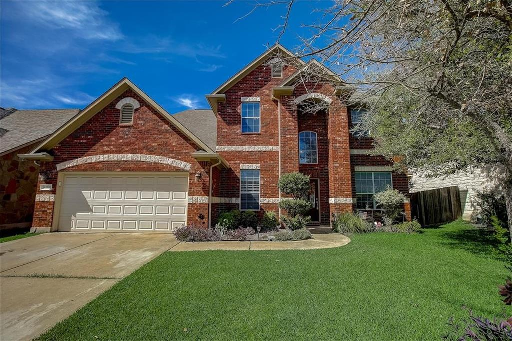 Stunning 4BR/3.5BA Brehens Ranch home just minutes from downtown Round Rock! The home is incredibly spacious with multiple living spaces, a bonus media room, home office, and multiple dining areas. Gorgeous characteristics throughout including high ceilings seen from entry, crown molding, and tons of windows allowing for natural light to flood in. Kitchen includes a built-in oven, gas range, center island and granite countertops. Outdoor features red brick façade, a covered patio, and large grass space to play with.