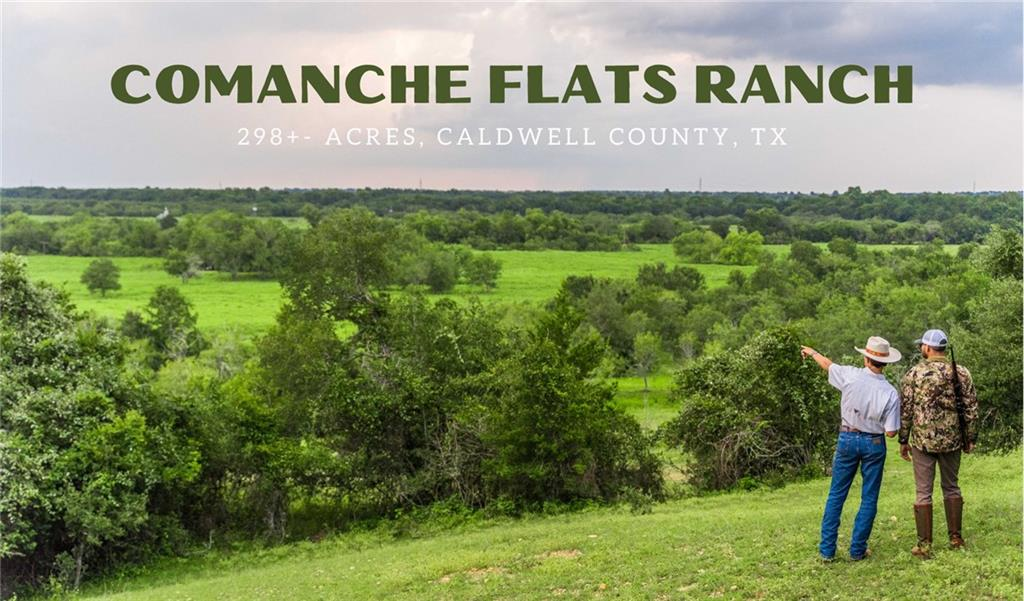 There are few places left where the experience of natural beauty, convenience of location, and living history collide. Comanche Flats Ranch, situated in Southwest Caldwell, 10 minutes South of Lockhart is such a place. Each turn of this ranch is a new experience; with dramatic views, ample cover for wildlife, and exceptional stretches of Plum Creek, this ranch offers a rare opportunity to own a beautiful ranch with endless opportunities for ranching, hunting, investment as a family homestead or weekend retreat. History: This ranch has been in the family for nearly 100 years. The storied grounds of this property have provided many years of enjoyment for the current owners, and it is time to pass the torch to a new legacy.  The namesake of this ranch is given to it by history. In the mid-1800s, the last battle between the Comanche Indians and the Anglos, consisting of Texas Rangers and Volunteers, took place on what is the present-day ranch and surrounding land.  Land & Terrain: The ranch boasts dramatic elevation changes for Caldwell County. As you drive the all-weather roads throughout the ranch, you will find ancient Live Oak and Pecan trees scattered along the 4,000+- ft of the Plum Creek -- the Biodiversity of this ranch is off the charts. In the pastures, you can find several creeks and tributaries and much surface water in times of high rainfall, including the Pecan Branch. There is also a small tank next to the cabin (1 bed/1bath)  The ranch has had low hunting pressure; as such, there is a healthy population of Whitetail Deer. You could expect to see Turkey, Water foul, and other fur-bearing animals.