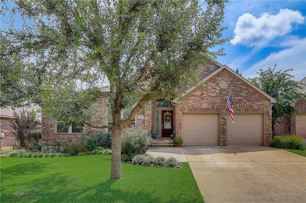 Located in the desirable community of Highlands at Crystal Falls, this gorgeous 1 story with outdoor living space is a must see! This 4 bedroom 3 full bath beauty offers a bright, open and spacious layout that is ideal for relaxing, entertaining, or working from home. Features include a large living area with fireplace and built-in cabinetry that flows to multiple dining spaces, and a kitchen offering a sizable island with bar seating, granite counter tops, SS appliances with gas range, ample storage and a pantry. Two flex areas can be utilized as an ideal media or second living that's wired for surround sound plus a dedicated office. Retreat to your large, private primary bedroom and bath containing dual vanity sinks, soaking tub and separate shower. Three large additional bedrooms contain walk-in closets. Relax and enjoy outdoor living under a covered patio that connects to a wonderful Pergola that is great for entertaining surrounded by a beautifully landscaped, park-like yard with no neighbors behind. Custom epoxy vinyl coating on patio and garage. Great community amenities includes a junior Olympic pool, spray pad, fishing lake, picnic areas and disc golf course. Superb location to schools, shopping, entertainment, Lake Travis and major employers!
