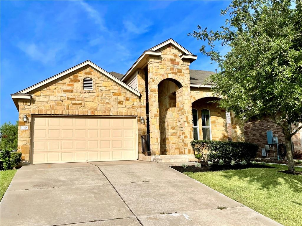 Beautifully one story stone home in Avery Ranch, exceptional condition * Lot of windows bring in an abundance of natural light *Wood and tile living/kitchen has high ceilings * Office or formal din * big wk-in closet! * Near the elementary school & pools * Avery tennis & sport courts/Golf/Metro station*Enjoy all this & benefits of living downtown,  Close to 183, Toll 45, Parmer Ln, businesses, shopping and Mins to Apple, Dell, IBM, The Domain... major employers. must see...MOVE IN READY.
