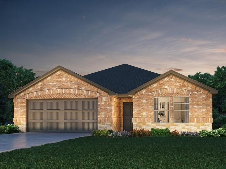 Brand NEW energy-efficient home ready September 2021! Spacious kitchen with ample counter space and island. The outdoor covered patio serves as an extended living space. Slate cabinets with white-toned quartz countertops, beige tone EVP flooring with dark gray tweed carpet in our Balanced package. SE facing oversized lot!  One story w 4 beds and 3 full baths!  Covered patio, 4 sides brick, full sod and sprinkler and whole house blinds included! Deerbrooke community is within a 4 mile radius of easy access to 183A, shopping and so much more! Fantastic Leander ISD schools! Known for their energy efficient features, our homes help you live a healthier and quieter lifestyle while saving thousands of dollars on utility bills.