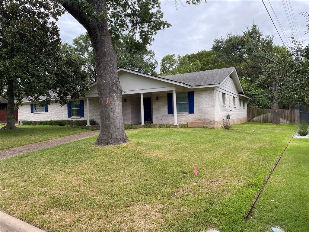 One level home in original condition ready for easy remodel or rebuild. 4/2.5, 2 living plus large game room, dining + eat-in kitchen, 2-car garage. Quiet residential street in the heart of Northwest Hills on large 15096.79 sqft. (.35 acre) lot with mature trees. Walk or bike to Anderson High, Murchison Middle and Doss Elementary schools. Quick access to MoPac and 360 and 10 minutes from downtown Austin and the Domain. Property is being sold as-is.