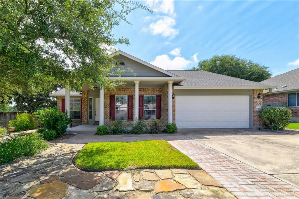 Deadline for offers is Monday, 9/20 at noon. Beautiful 1 story home on a cul-de-sac lot in Avery Ranch with solar panels and 220V electric car charger in the garage. This energy efficient home is situated in a highly desirable community, this 3BR/2BA, 1,852 sqft property emanates a welcoming vibe with gorgeous exterior brick, professional landscaping, and neat stone walkways. Explore the immaculate and sundrenched interior to discover an organically flowing floorplan, stunning wood floors, designer color scheme, recessed lighting, motorized shades, custom wood work around the windows and built-in entertainment niche, and a large living room with a gas fireplace. Reimagined and remodeled to reflect modern preferences, the open concept kitchen features ample cabinetry, stainless-steel appliances, granite countertops, mosaic tile backsplash, gas range with exterior ventilation, large center island, walk-in pantry, built-in wine storage, and a dining area. Created for vibrant entertaining, the fully fenced-in and low-maintenance backyard includes a covered patio, a spacious open patio with a pergola, phenomenal hardscaping, raised garden beds, hot tub for relaxation, dry rock creek with decorative bridge, and a sprawling greenspace. Rest and relax in the oversized primary bedroom, which has high ceilings, a deep closet with Elfa shelving, a luxe en suite with a soaking tub, separate shower, and dual sinks. Two additional guest bedrooms have dedicated closets, while the guest bathroom features a storage vanity and shower. This home is only 23-minutes from Downtown Austin, close to shopping, dining, excellent schools, hiking trails, parks, and entertainment, and so much more! Contact us now to secure your private and exclusive showing!