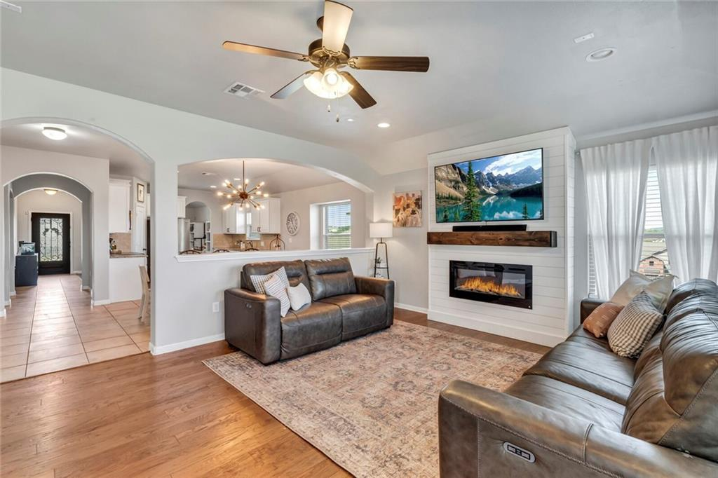 This home offers the largest single story plan in the Montebella community in beautiful Dripping Springs! Gorgeous formal dining can also be used a living area, or game room. Large eat-in kitchen that is adjacent to the family room provides a very open feel. Finishes include rich hardwood floors, granite in the kitchen and all bathrooms, Stainless Steel appliance package, extra large walk-in closet, carpeted bedrooms. Shiplap wall in family, custom mud area cubbies, Lake Travis ISD and very low 1.98 tax rate!
