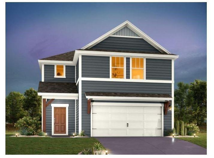 """BRAND NEW HOME BY ASHTON WOODS! Estimated completion Feb/Mar 2022! Beautifully designed 2-story home! This Barton floor plan boasts a large kitchen island and dining area opening to the family room. You're going to love the garden tub and walk-in shower in the upstairs owner's bathroom. Upstairs you will also find a nice loft and utility room. This home is professionally designed with the latest trends, including gray 42"""" kitchen cabinets with upgraded Silestone countertops and wood-look tile flooring in the main first floor living areas. Orchard Ridge is a natural gas community with quick access to many amenities."""
