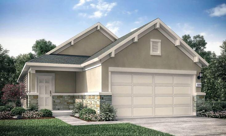 REPRESENTATIVE PHOTOS ADDED! Ready September 2022! Built by Taylor Morrison ~ The beautiful Allegro has a porched entry with conveniently located coat closet at the front of home. Cook in style in a modern kitchen featuring stainless steel appliances, kitchen island with corner walk-in pantry. Owner's suite has a sizable walk-in closet, large shower, dual vanities and dedicated linen storage offers a private retreat. A powder bath and laundry room with shelving and space for additional storage is located for convenience. Additionally, there are two secondary bedrooms, a full bath, and two linen closets. A 2-car garage completes this home. Structural options added to 164 Breccia Trail include: extended back patio, pre plumb for water softener, upgraded flooring.