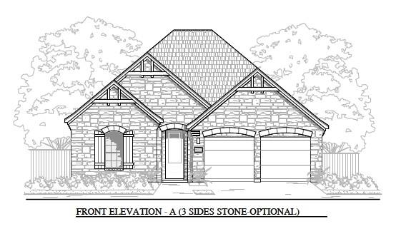 MLS# 4836270 - Built by Brohn Homes - January completion! ~ Fabulous stone and brick four bed three bathroom home in Carmel. All the main rooms have a wood look tile and twelve foot ceilings. The gourmet kitchen includes built in appliances with quartz counterops and designer backsplash. This sunny, open floor plan has a ton of natural light. Enjoy grilling and chilling on an extended covered patio overlooking your fully sodded and irrigated yard. This community is adjacent to Pflugerville's newest elementary, middle and high schools.