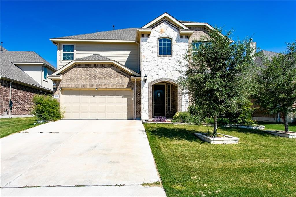 Pecan Creek is a beautiful Leander community centrally located in the highly desired Ronald Regan & RM 1431 corridor. With easy access to major employers, shopping, dining, entertainment and highly acclaimed schools, Pecan Creek has it all. This beautiful two story house is about 3190 Sq Ft . The main level has a Master, Study, family and dining room. An upgraded Media room is situated on the second floor. Elementary and Middle schools are close by (walking distance).Roof replaced in September 2021.