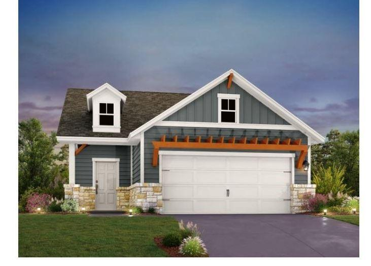 """NEW CONSTRUCTION BY ASHTON WOODS! Estimated completion Jan/Feb 2022! Charming and thoughtfully designed 1-story home! This Travis floor plan boasts a large kitchen island and dining area opening to the family room. You're going to love the garden tub and walk-in shower in the owner's bathroom. This home is professionally designed with the latest trends, including white 42"""" kitchen cabinets with upgraded Silestone countertops and wood flooring in the main living areas. Plus, Orchard Ridge is a natural gas community with quick access to many amenities."""