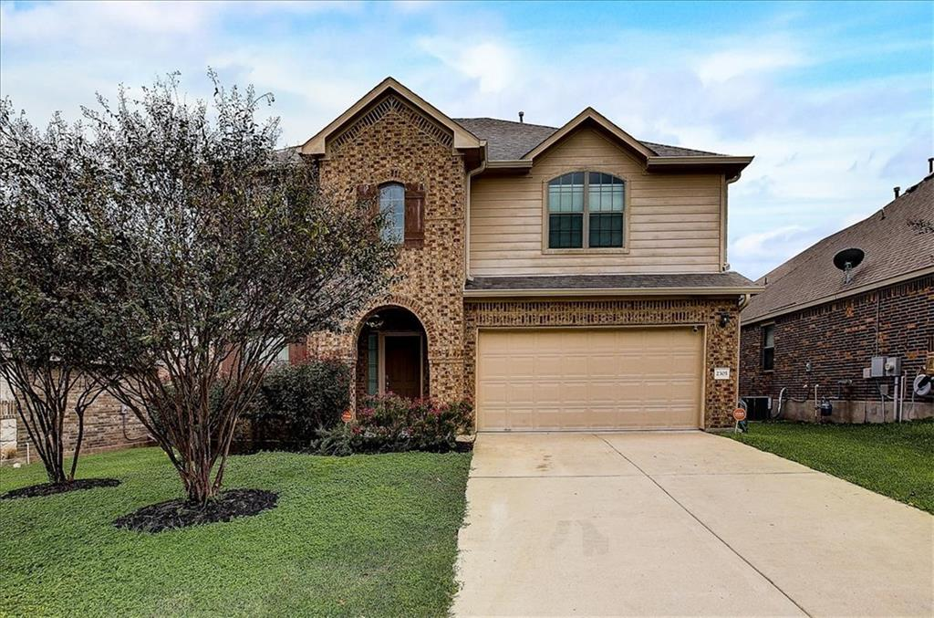 Gorgeous 4 bed 2.5 bath home tucked away in the coveted Commons At Rowe Lane Neighborhood in Pflugerville. Conveniently located just minutes away from TX-130, providing easy access to HEB, Stone Hill Town Center, and tons of restaurants. Walk in and fall in love with the high ceilings and open floor plan which allows for great flow. Find two dining areas, living room, a fabulous kitchen with high end appliances, and luxurious primary suite all downstairs. Journey upstairs to find the remaining 3 bedrooms and full bathroom. The backyard is a retreat with a stylish covered patio and huge grassy area!